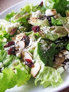 Cranberry Feta Salad with Tangy Tangerine Vinaigrette served with Jalapeno Chicken (brown rice and beans for me) tonight! Vinaigrette Salad Dressing, Feta Salad, Salad Dressings, Chicken And Brown Rice, Cooking Recipes, Healthy Recipes, Healthy Meals, Easy Meals, Salad