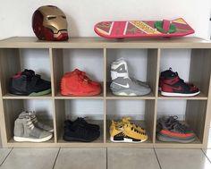 Bedroom Setup, Dream Bedroom, Home Bedroom, Bedrooms, Sneaker Storage, Shoe Storage, Shoe Display Case, Hypebeast Room, Sneakers Box