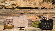 An open air spa in the bush! You can enjoy this exotic peaceful treatment at Bushmans Kloof luxury lodge