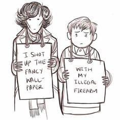 Sherlock shame. Mrs. Hudson made the signs...