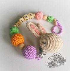 Roger chupetero conejo pinza para chupete por DesdelasNubes en Etsy  rabbit ganchillo  Crochet amigurumi  www.desdelasnubes.com