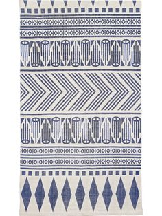 liv interior Teppich Aztec Blau