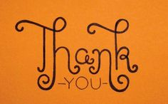 Hand lettered thank-you card by Janna Barrett