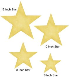 Star stencil for play room