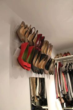 Great use of molding! #DIY #ShoeRack