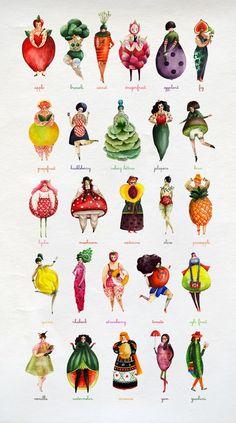 Varietats: The Girlyveggiefruit Alphabet by Aitch