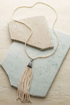 Traditional Pearl Tassel Necklace