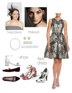 """""""Arina's Lady from the Gold Era"""" by arini-lioni on Polyvore featuring Eliza J, Philip Treacy, Amrita Singh, Carvela, Burberry and Cheville"""