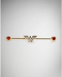 CZ Wonder Woman Industrial Barbell 14 Gauge – DC Comics – Spencer's – Piercings, You can collect images you discovered organize them, add your own ideas to your collections and share with other people. Industrial Piercing Barbells, Industrial Earrings, Industrial Piercing Jewelry, Industrial Barbell, Ear Piercings Chart, Ear Piercings Tragus, Cute Ear Piercings, Piercing Tattoo, Tongue Piercings