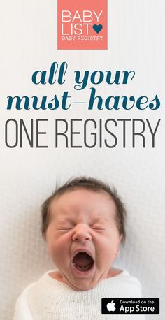 Download Babylist Registry App to add any item from any store to your baby registry. Literally anything - even Etsy items, baby sitting, or home-cooked meals! It's easy, beautiful & FREE. BabyList works just like Pinterest. Simple enough for the grandparents-to-be too.
