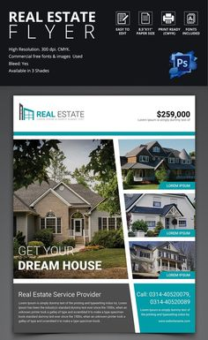 House for Sale Brochure Template New 44 Psd Real Estate Marketing Flyer Templates Real Estate Templates, Real Estate Flyer Template, Event Flyer Templates, Flyer Design Templates, Business Templates, Flyer Free, Sale Flyer, Real Estate Flyers, Real Estate Marketing