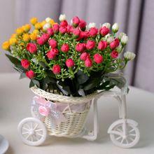 New Cute Upscale rattan baskets small tricycle wheel round vase Wedding Decoration Wedding Home Decoration Bandwagon Vase(China (Mainland))
