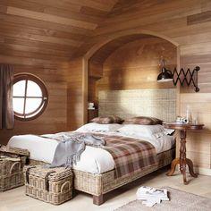 Letto 160 x 200 cm in massello di mogano Hampton | Maisons du Monde