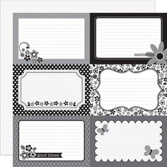 Doodlebug Design - Classic Collection - 12 x 12 Double Sided Paper - Classic 4 x 6 Cut-Outs at Scrapbook.com