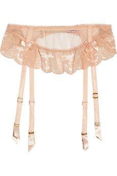 Agent Provocateur Lucienne tulle & lace suspender belt