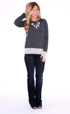 MOVING ON UP IN CHARCOAL $ 38.00