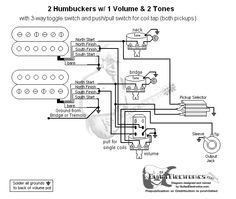 58e477d7a01ad18dd7862b3cf0fc2673 guitar tips guitar building guitar wiring diagram 2 humbuckers 3 way lever switch 2 volumes 1 coil tap switch wiring diagram at soozxer.org