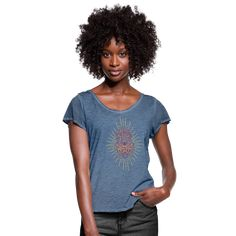 Geschenke Shop   Hamsa Yoga Meditation - Frauen T-Shirt mit Flatterärmeln Yoga Meditation, Club Shirts, Badger, Fox, V Neck, Mens Fashion, T Shirts For Women, Prints, Hamsa