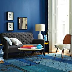 Room View, West Elm (really like the sofa- The Elton Settee).  Also love all the color