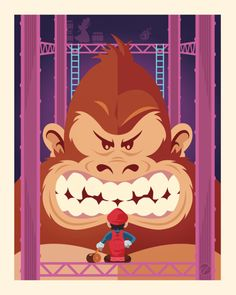 Donkey Kong & Mario by *Weidel on deviantART Video Games Xbox, Video Game Art, Mundo Dos Games, Donkey Kong Country, Geek Games, Mario And Luigi, Geek Art, Super Mario Bros, Super Nintendo