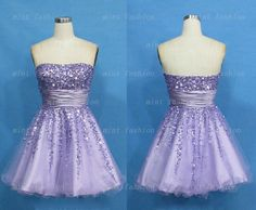 Omg!! I absolutely love this dress! I want it! purple prom dress short prom dress rhinestone prom by Yesdresses, $149.00
