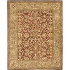 @Overstock - Update your home or office with this handmade traditional Persian design rug. An intricate Oriental design and dense, thick pile highlight this handmade rug.http://www.overstock.com/Home-Garden/Handmade-Taj-Mahal-Rust-Green-Wool-Rug-83-x-11/6030622/product.html?CID=214117 $392.69