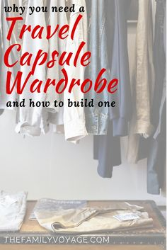 You saved to Best of The Family Voyage Blog A travel capsule wardrobe will help you pack light but stay stylish, even for long periods of travel. Read our quick guide to learn the fundamentals of building your own travel capsule wardrobe!