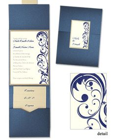 I like this style invite but I wish it came in different colors...  Amber Folio Pocket Wedding Invitations by MyGatsby.com
