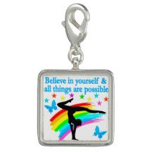 BELIEVE IN YOURSELF GYMNASTICS QUOTE CHARMS http://www.zazzle.com/mysportsstar/gifts?cg=196751399353624165&rf=238246180177746410   #Gymnastics #Gymnast #WomensGymnastics #Gymnastgift #Lovegymnastics #Gymnastquote