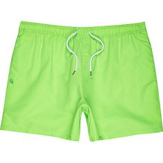 Neon green swim shorts - swim shorts - shorts - men
