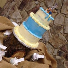 Mike and Janneth's wedding cake