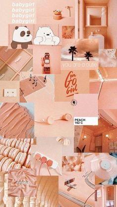Ideas Aesthetic Wallpaper Pastel Peach For 2019 Peach Wallpaper, Mood Wallpaper, Pink Wallpaper Iphone, Iphone Background Wallpaper, Aesthetic Pastel Wallpaper, Retro Wallpaper, Trendy Wallpaper, Pretty Wallpapers, Girl Wallpaper