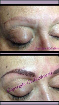 Permanent eyebrows - hair simulation procedure