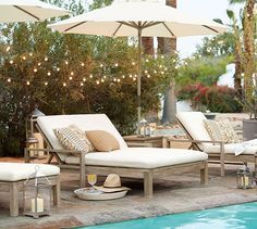 Indio outdoor chaise lounge pottery barn get the look modern neutral outdoor space Resin Patio Furniture, Backyard Furniture, Best Outdoor Furniture, Antique Furniture, Rustic Furniture, Modern Furniture, Furniture Design, Diy Furniture, Furniture Layout