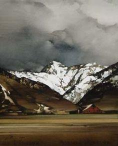 """2010, Canyon Whites by Joseph Alleman Watercolor ~ 20"""" x 16"""""""