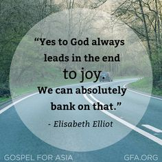 Elisabeth Elliot is now rejoicing with her Savior in heaven. Her example and teachings have been a blessing to countless people around the world, including many of us at GFA. As the wife of missionary martyr Jim Elliot, she continued his ministry to the Auca people of Ecuador after his death, demonstrating Christ's powerful love to them. What a legacy of surrender, love and faith from an incredible woman of God.