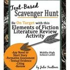 "Elements of Literature Scavenger Hunt Activity: Excellent and engaging way to review a novel or short story! Students must ""hunt"" through the text to find examples of the elements of literature!"