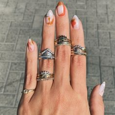 Marrow Fine Jewelry | by Jillian Sassone Ring Crafts, Right Hand Rings, Beautiful Engagement Rings, Green Tourmaline, Fashion Essentials, Stacking Rings, Bespoke, Classic Style, Wedding Bands