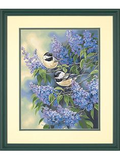 Chickadees and Lilacs Paint by Number Kit