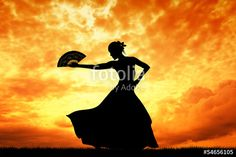 "Flamenco silhouette at sunset"" Stock photo and royalty-free images ..."