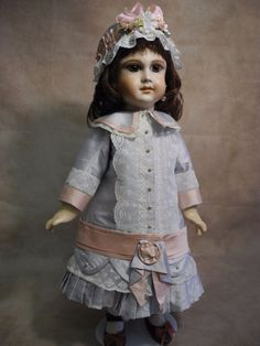 Beautiful  dress  for antique  French and German dolls