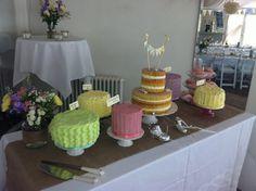 Vintage inspired wedding cake display