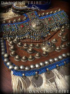 81a34be0e Old Moroccan Leather Bag with Fringe and Coins Tribal Desert Bag Messenger  Bag Ethnic Leather Bag Gypsy Boho Fringe Bag Festival Kuchi Bag