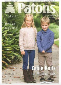 Patons Kids Knitting Pattern  3925 Kids by HandmadeLCreations