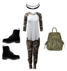 """""""The Hunter"""" by edove9 on Polyvore featuring Dr. Martens, Topshop and Charlotte Russe"""