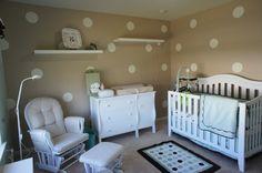 Project Nursery - Gender Neutral Polka Dot Nursery Room View