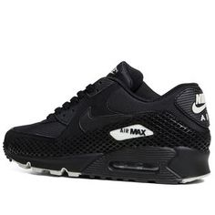Nike Air Max 90 Premium - Pre Order (Black Black) Clothing, Shoes & Jewelry - Women - nike women's shoes - amzn.to/2kkN5IR