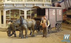 Bar Mills Scale Model WorksMilk & Ice Wagons w/Horses -- Kit Hobby Electronics Store, Hobby Kids Games, The Parking Spot Hobby, Hobby Shops Near Me, Hobby Trains, Model Building Kits, Model Train Layouts, Laser Cut Wood, Ho Scale
