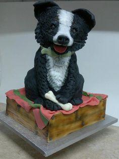 Dog cake Bird Cakes, Dog Cakes, Doggie Cake, Professional Cake Decorating, 3d Dog, Animal Cakes, Creative Cakes, Show, Mans Best Friend