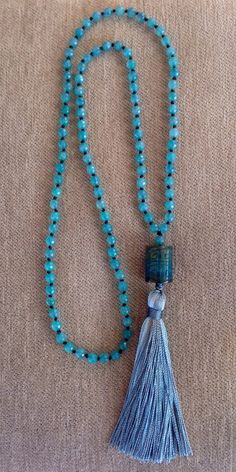 A personal favorite from my Etsy shop https://www.etsy.com/listing/222356894/handmade-long-tassel-necklace-with